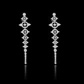 耳環 925純銀 鑲鑽-百搭流蘇生日情人節禮物女飾品73hz71【時尚巴黎】