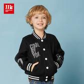 JJLKIDS 男童 個性男孩網布棒球外套(黑色)