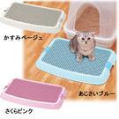 *WANG*【日本IRIS】新款貓砂盆落砂踏墊 NO-550藍/粉/駝 3色