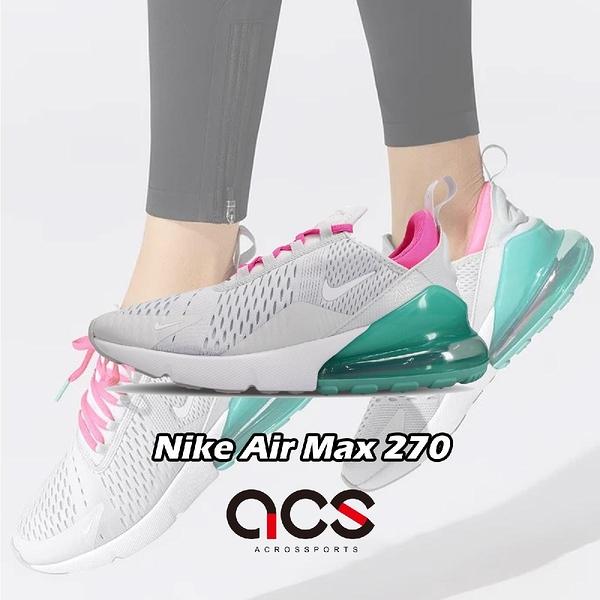 【五折特賣】Nike 慢跑鞋 Wmns Air Max 270 灰 粉紅 綠 大氣墊 舒適緩震 運動鞋 女鞋【ACS】 AH6789-065