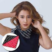 英文字母領巾 STAGE PRINTING BANDANA 黑/桃紅 兩色