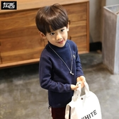 男童高領打底衫兒童長袖T恤加厚男孩上衣韓版潮冬裝2019新款
