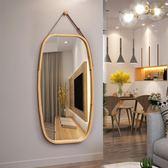 壁掛鏡 歐式貼墻方形鏡子壁掛穿衣鏡門廳全身鏡試衣鏡子落地鏡半身鏡掛鏡tw  【萬聖節推薦】