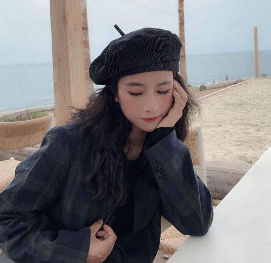 [現貨]燈芯絨貝雷帽 報童帽 畫家帽 帽子 熱銷 英倫風 復古文青 商品實拍實穿 台灣出貨 C2100 OT SHOP