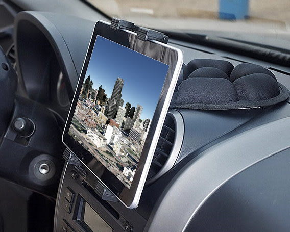 7吋8吋9吋10吋平板電腦衛星導航支架數位電視支架汽車用沙包座固定架中控台止滑墊沙包車架