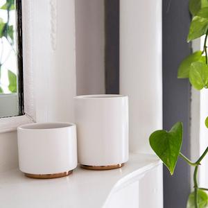 FELLOW MONTY 雙層陶瓷咖啡杯– 6.5oz卡布杯拉花杯霧面白