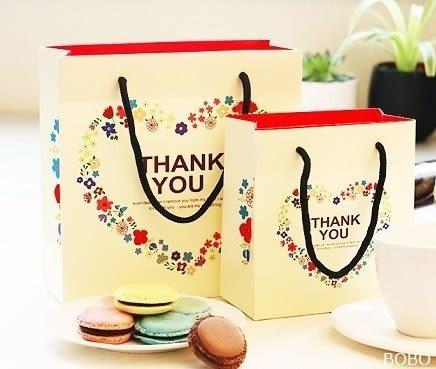 愛心感謝袋(小) 紙袋 禮盒袋 乳酪盒袋 購物袋 手提袋 蛋糕袋 包裝袋 時尚袋 環保袋