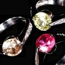 【La Finia】法式戀曲水晶戒指(共三色可選擇)