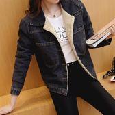 年終盛典 新款韓版牛仔棉衣外套女短款時尚顯瘦百搭加絨加厚修身羊羔毛棉服