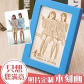 畢業木刻畫訂製照片生日禮物送女生閨蜜朋友個性雕刻diy 韓版創意igo  琉璃美衣