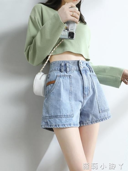 牛仔短褲女寬松a字顯瘦2021年夏季新款高腰韓版百搭闊腿ins潮薄款 蘿莉新品