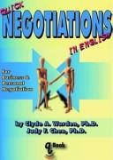 二手書 《Quick Negotiations in English: For Business and Personal Negotiations》 R2Y ISBN:9780979904219
