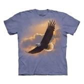 【摩達客】(預購)(大尺碼3XL) 美國進口The Mountain  高空飛鷹 純棉環保短袖T恤(10416045050a)