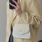 法式復古珍珠手提小方包