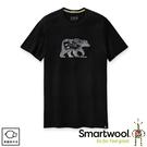 【SmartWool 美國 男 Merino Sport 150  野營與熊T恤《黑》】SW015158/排汗衣/ 機能衣