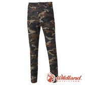 【wildland 荒野】男 彈性印花時尚機能長褲 0A61388『深卡其』戶外|登山|休閒|彈性褲|印花