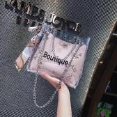 仙女包包2018夏天新款小清新蕾絲果凍包百搭絲巾水桶包沙灘斜背包