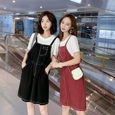 VK精品服飾 韓系可愛森女系小清新吊帶套裝短袖裙裝