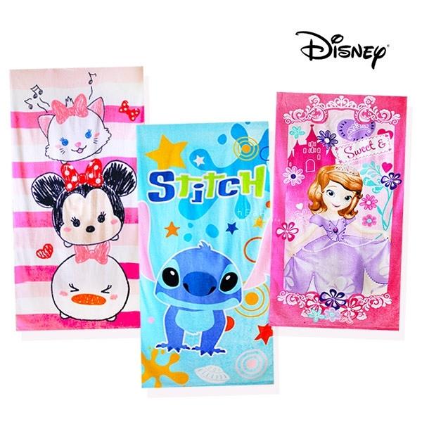迪士尼TSUMTSUM公主系列大浴巾75X150cm 蘇菲亞/米妮/史迪奇 浴巾 毛巾