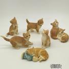 仿真小貓家居裝飾品擺件創意禮物可愛禮品樹脂動物貓咪工藝品擺設一隻裝【全館免運】