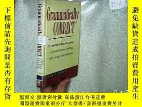 二手書博民逛書店GRAMMATICALLY罕見CORRECT 語法正確 32開Y