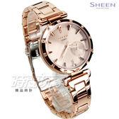 SHEEN SHE-4051PG-4A 施華洛世奇水晶 簡約優雅女錶 防水手錶 玫瑰金 蜜桃金 SHE-4051PG-4AUDF CASIO卡西歐
