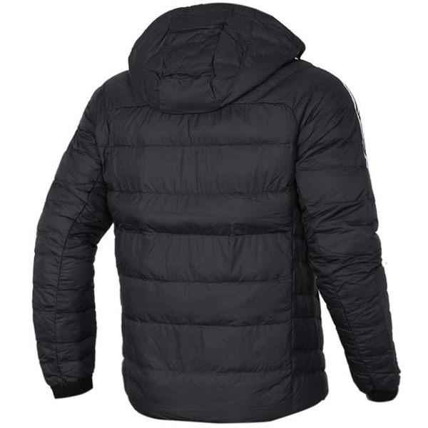 ADIDAS ITAVIC 男裝 羽絨 連帽外套 輕量 保暖 舒適 黑【運動世界】BQ8574