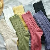 純棉堆堆襪 復古純色高幫中筒襪 壓花彈力棉線襪/8色-夢想家-0917