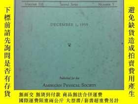 二手書博民逛書店the罕見physical review vol 116 num
