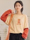 假兩件長袖T恤女寬鬆ins2020春裝新款上衣開學季學生純棉女裝百搭 草莓妞妞