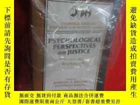 二手書博民逛書店Psychological罕見Perspectives on Justice: Theory and ( 小16開