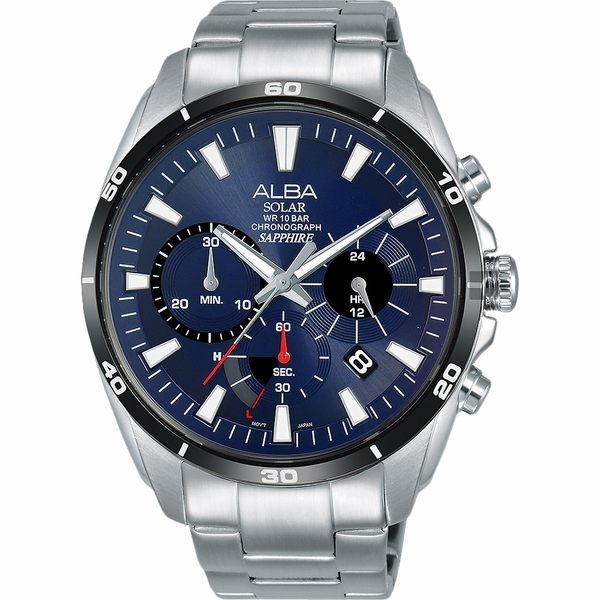 ALBA 雅柏 Solar 太陽能機芯限定款計時手錶-44mm VR42-X014B(AZ5005X1)