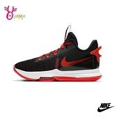 NIKE籃球鞋 男女鞋 LEBRON WITNESS V EP 高筒籃球鞋 運動鞋 耐磨 Q7097#黑橘◆OSOME奧森鞋業