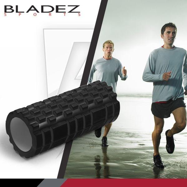【BLADEZ】狼牙棒空心瑜伽滾筒-黑色(贈教學海報)