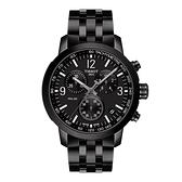◆TISSOT◆PRC200 系列 三眼計時石英錶T114.417.33.057.00 極致黑