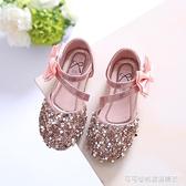女童涼鞋公主鞋兒童單鞋2019春夏新款韓版亮片女童鞋寶寶鞋半涼鞋