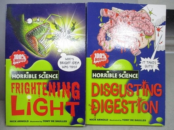 【書寶二手書T9/原文小說_MKK】Disgusting Digestion_Frightening Light_2本合售