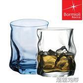 意大利原裝波米歐利彩色玻璃水杯 創意啤酒杯果汁杯熱飲杯茶水杯【潮咖地帶】