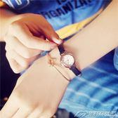 韓版經典復古小錶盤文藝簡約圓女錶細帶皮新百搭學生手錶潮  潮流前線