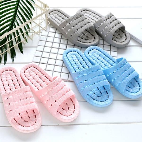 浴室排水快乾防滑拖鞋 鞋底鏤空透氣乾爽浴室拖鞋 室內拖鞋 海灘拖鞋【Z90235】