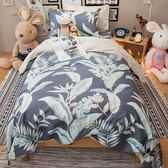 天堂島叢林 A2雙人兩用被乙件 100%復古純棉 台灣製造 棉床本舖