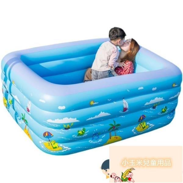 新生兒小孩戲水洗澡池家用成人浴缸兒童充氣游泳池