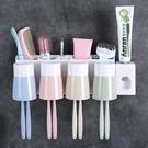 牙刷架 衛生間吸壁式牙刷架壁掛洗漱架牙刷筒牙刷杯牙刷置物架套裝收納架【幸福小屋】