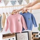 男女童裝毛衣寶寶針織衫兒童圓領純色打底線衫【左岸男裝】