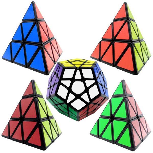 圣手金字塔三角形魔方兒童學生專業比賽專用順滑異形魔方套裝組合【全館滿888限時88折】