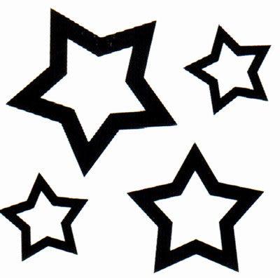 薇嘉雅 星星 超炫圖案紋身貼紙 TM0946