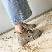 馬丁靴女秋季韓版復古英倫風短筒學生百搭短靴女 迪澳安娜