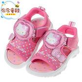 《布布童鞋》HelloKitty凱蒂貓糖果心桃色電燈兒童涼鞋(13~18公分) [ C8K111H ]