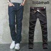 ToGetheR+【N3804】定番款保暖刷毛設計牛仔長褲(二色)