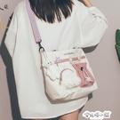 大容量帆布包ins韓風日韓側背包包新款潮百搭文藝學生單肩包 安妮塔小鋪